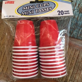 Mini Plastic Cups from The Dollar Tree